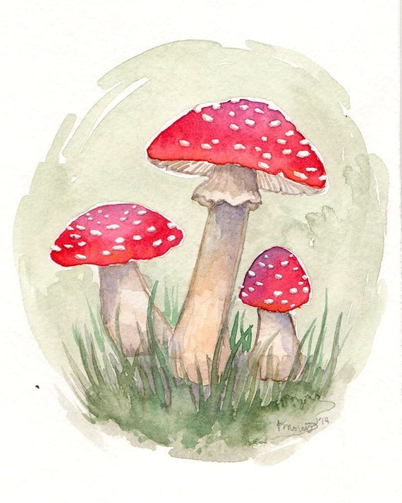 Painting Using Mushrooms