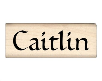 Name Rubber Stamp for Kids  - Caitlin