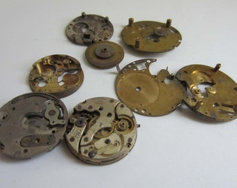 Collection of Vintage Internal Watch Parts LOT003