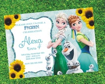 Frozen Fever Birthday Invitation Printable, Frozen Fever Invitation, Frozen Invitation
