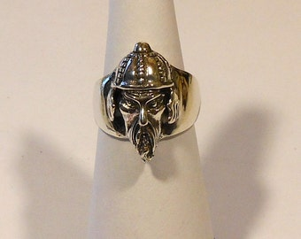 Viking / Samurai Sterling Silver Ring