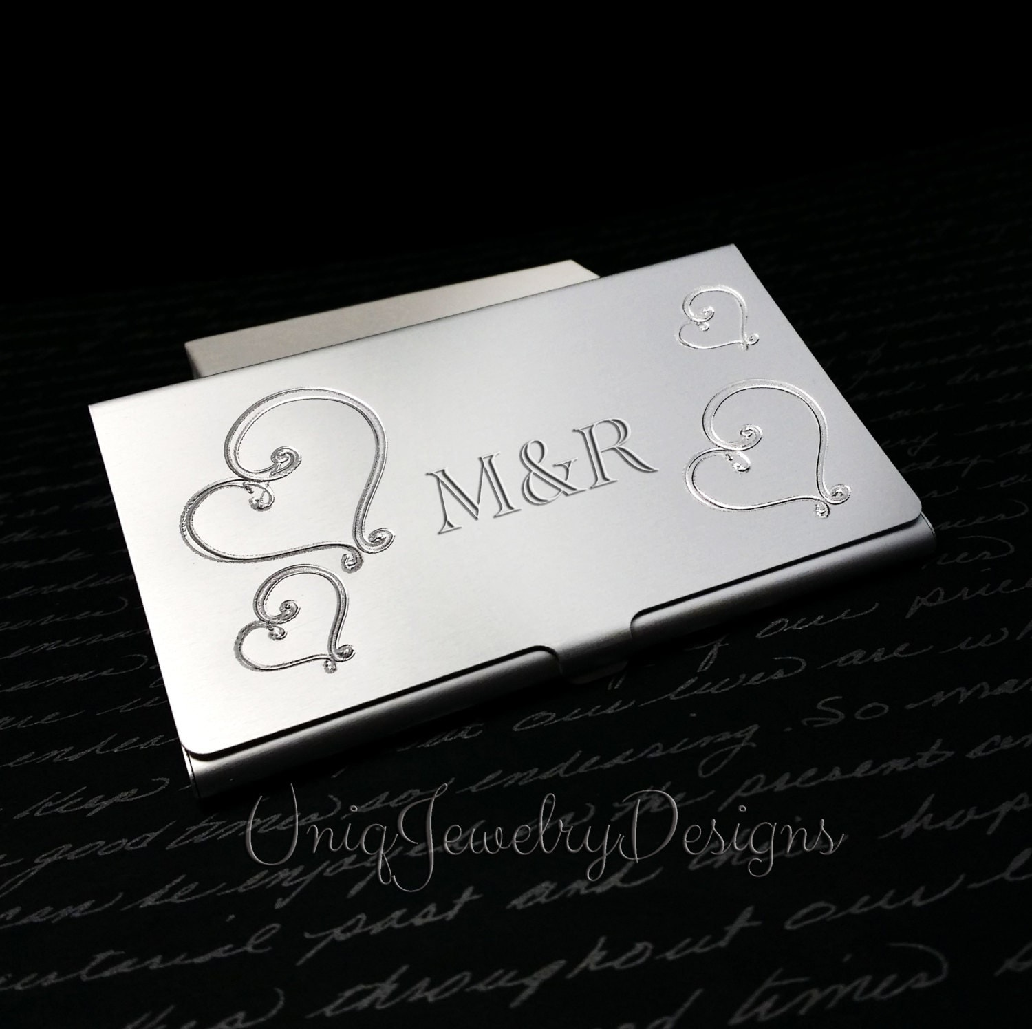 Personalized business card holder for women by for Order custom business cards