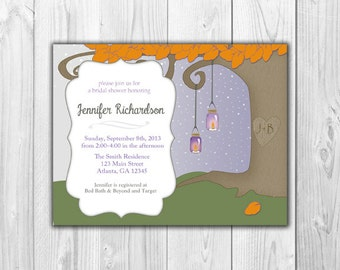 Bridal Shower Invitation - Lantern