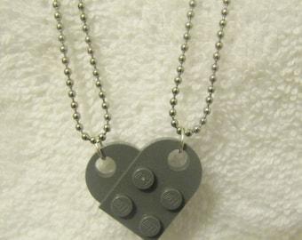 Lego Heart Necklace Set Friendship Necklace