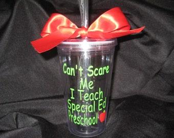 Special Ed Preschool teacher Tumbler, Teacher gift, Special education teacher gift, Teacher appreciation, Speech therapist gift