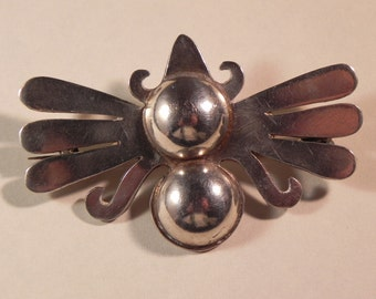 Vintage Butterfly Brooch /Pin .980 HallmarkedTaxco Chato Castillo Design 1930's