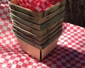 Tailgate Picnics Red White Checkerboard Large Waxed Paper Basket Liners Barbecues Cookouts Summer Dining Rustic Picnic 12 ct