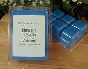 Volcano Scented 100% Soy Wax Melt - Aromatic Exotic Vocano Aroma - Maximum Scented