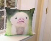 """The """"Little Piggy"""" Pillow - 18"""" x 18"""""""