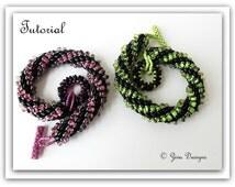 Bracelet beading instructions rope tutorial, SuperDuo beadweaving O drop beads,On the move bracelet