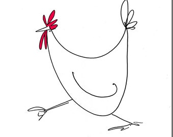 Doodle Chick Greeting Card