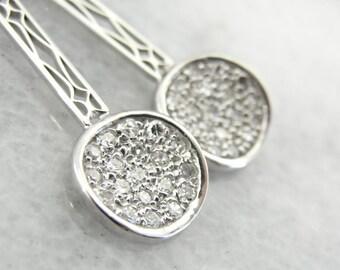 Art Deco Disco Diamond Drop Earrings 1KKLNH-P