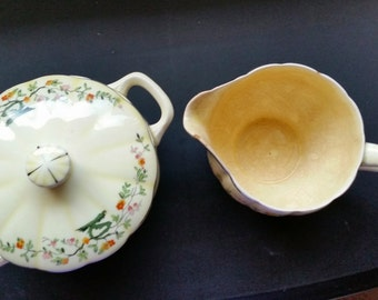 WS George Creamer and Sugar Bowl Set - Made in America