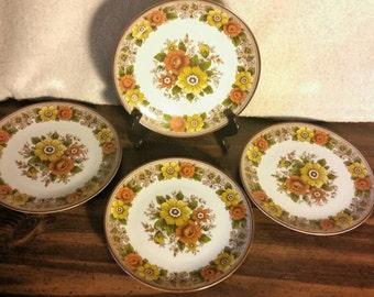 Retro Salad Plates, Made in Bavaria - Set of 4
