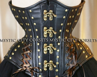 Leather underbust corset MCC-44