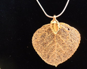 Shop Now Handmade Electroplared Gold Leaf, Nature Jewelry, Electroplating Leaf Jewelry