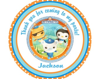 24 Octonauts Party Favor Tags Gift Tags - Personalized