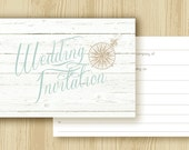 Bohemian Beach Wedding Invitations - Blank Ready to Write - Pack of 25