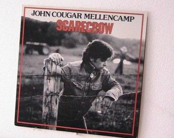 "Vintage John Cougar Mellencamp LP ""Scarecrow"""