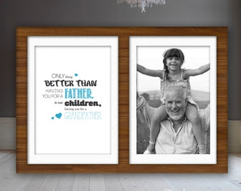 Grandfather / Grandmother / Great Grandparents Framable Printed Quote