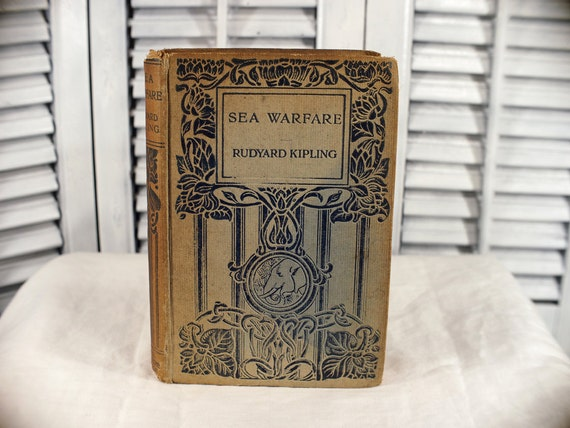 1916 Sea Warfare Rudyard Kipling, First Edition Macmillan of London Hardcover Book The Dominions Edition Antique Book Rare India