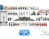 Pixel (8 bit) 8th Doctor Who Poster