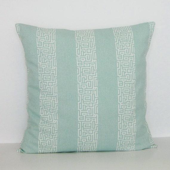 Throw Pillow Seafoam Green : Seafoam Spa Green Stripe Pillow Cover Decorative Throw Accent
