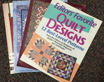 Lot of 4 Quilt Pattern Books