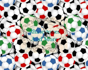 Soccer cotton fabric