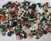 Gigantic Lot of Vintage Assorted Buttons, weighs 1.5 lbs