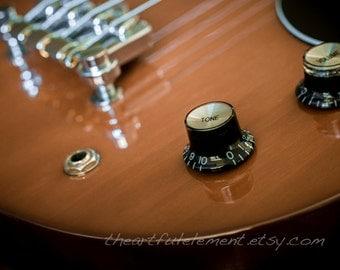 Guitar photograph, Music room décor, Neutral decor // Electric Bass Guitar No.1 ~ Tone