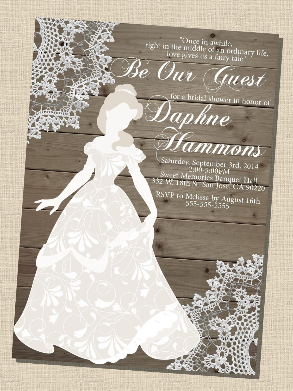 A Wedding Gift By Guy De Maupassant Theme : Rustic wooden vintage Disney Princess Belle Silhouette