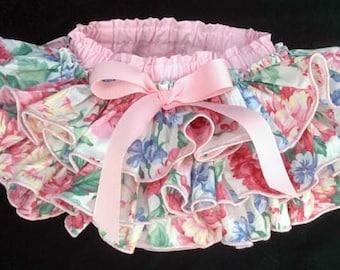 Pink Flower & Bow Cute Adorable Princessduke Diaper Cover