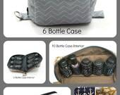 6  Bottle Essential Oils Case - Gold Triangles