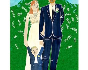 Custom Wedding Illustration - Unique Gift
