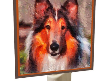 Collie (Rough Coat) Night Light by DoggyLips.Com