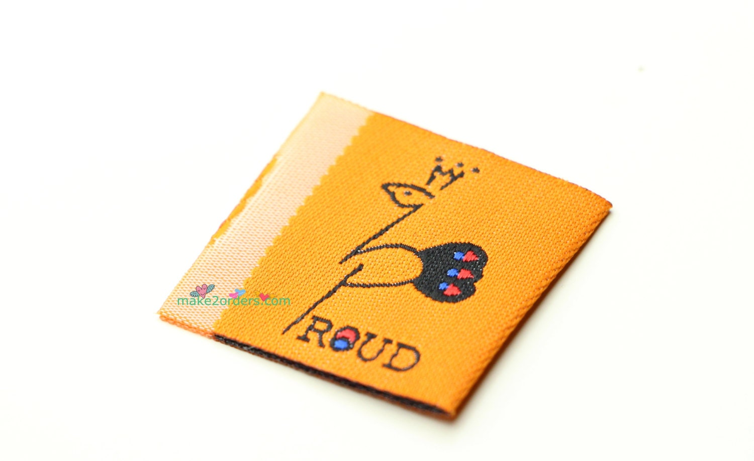 250 customized tags sewing labels shirt label tags for Woven t shirt tags