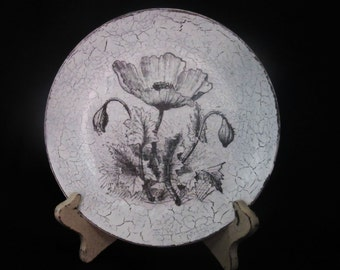 Decorative Plate- Vintage Poppy