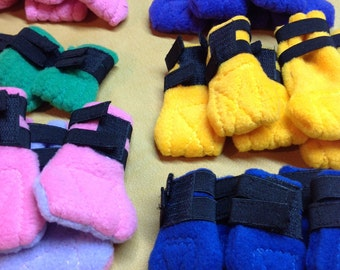 Fleece Dog Boots, Custom sized for you dog.