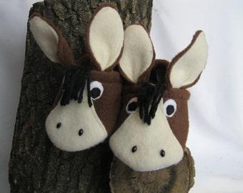 horse toddler slippers