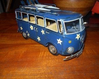 Volkswagon Tin Hippy Surfer Bus