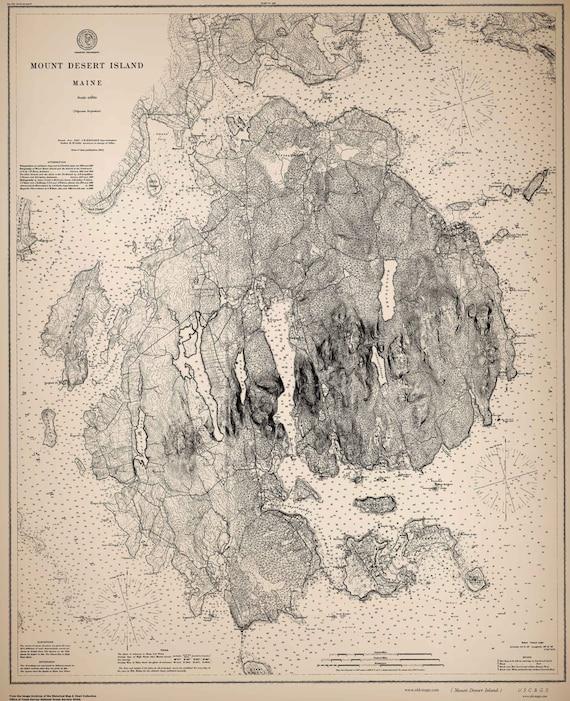 Nautical Map Mount Desert Island