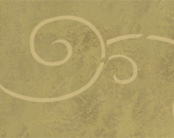 Spiral Scroll Border Stencil
