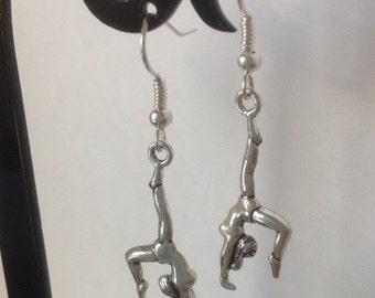 Gymnast Earrings on Nickel Free Ear Hooks