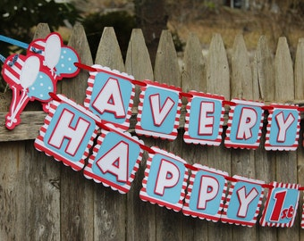 Dr. Suess Themed Birthday Banner, Suess Birthday Decorations