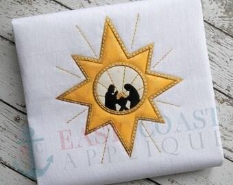 NATIVITY STAR machine embroidery design