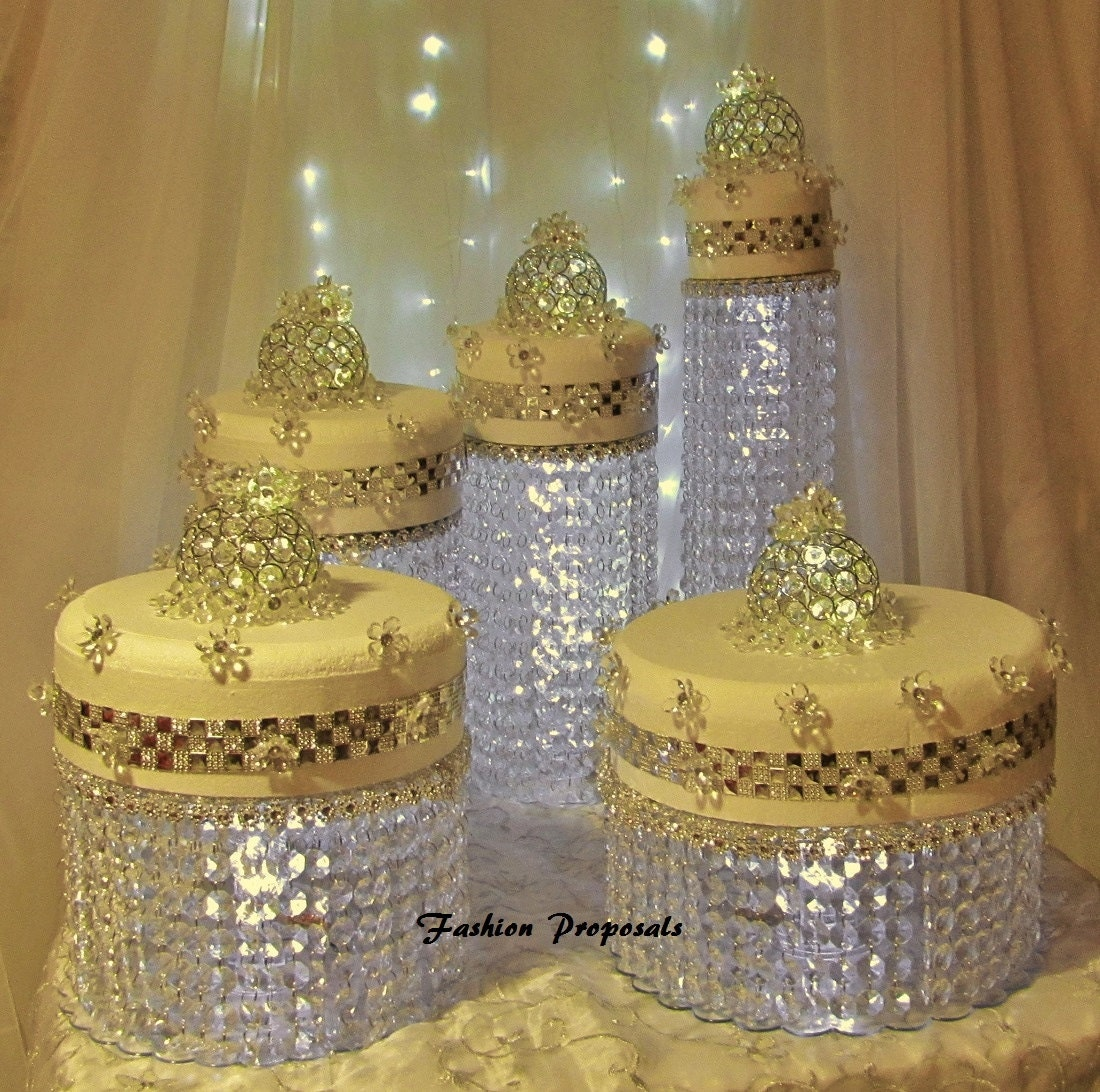 crystal cake stand wedding cake stand cascade waterfall by 3203