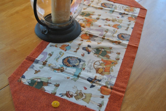 Thanksgiving pilgrims table runners thanksgiving wikii for 10 minute table runner with batting
