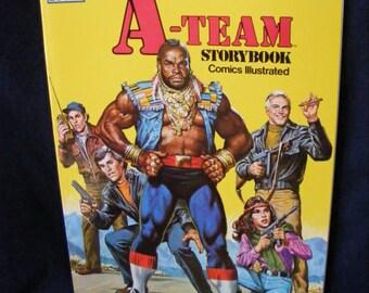 The A-Team Storybook, Marvel Comics, Mr T Comic Book, Marvel Books, A Team Comic Book
