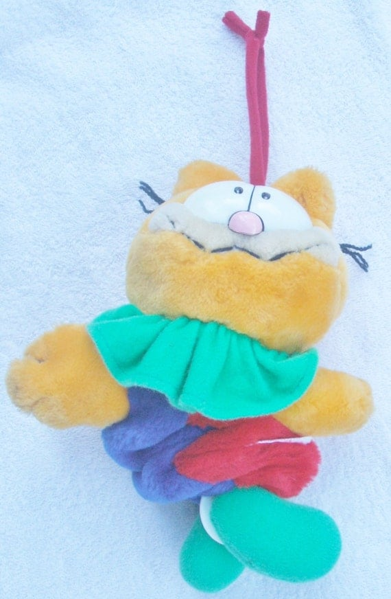 Items Similar To Garfield Dakin Plush Musical Pull String